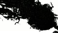 Paper absorbs ink paint. Macro. - stock footage