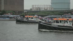 River Thames Diamond Jubilee Flotilla Stock Footage