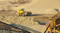 Front-end loader at work Stock Footage