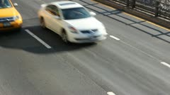 Traffic on the Brooklyn-Queens Expressway Stock Footage