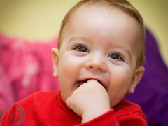 Portrait small, attractive and smiling boy Stock Photos