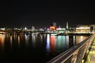 Time Lapse of River Thames at night, London Stock Footage