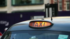 London Cab for Hire Stock Footage
