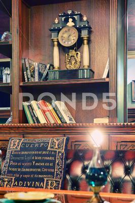 Stock photo of old library