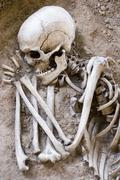 Sleeping Skeleton - stock photo