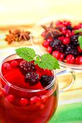 cup of fruit tea close up shoot - stock photo