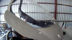 A-4 Skyhawk In Hangar Stock Footage