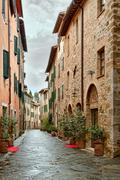 picturesque nook of tuscany - stock photo