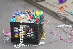 Mardi Gras Beads Stock Photos
