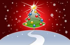 Christmas holiday details, illustrated with great colors Stock Illustration