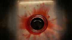 Blood in sink enhanced creepy - stock footage