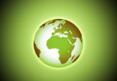 green beautiful earth in the space - stock illustration
