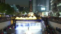 Seoul City Zoom Stock Footage