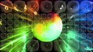 Stock Video Footage of Disco Ball Spreakers Loop