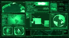 Technology Interface Computer Data Screen Animation - stock footage