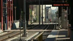 Pasadena metro rail crossing Stock Footage