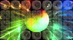 Disco Ball Speakers Strobe Loop - stock footage