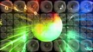 Disco Ball Speakers Strobe Loop Stock Footage