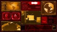 Technology Interface Computer Data Screen GUI Stock Footage