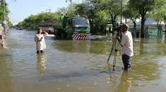 BKK Noi flood 0832 Stock Footage