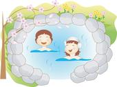 Ladies in water spa Stock Illustration