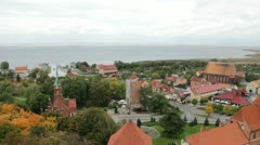 Frombork, Poland - Panorama Stock Footage