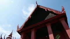 Tilt down Cambodian traditional style building Stock Footage