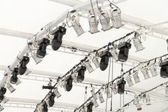 lighting equipment under roof - stock photo