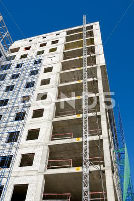 Stock photo of construction of office building