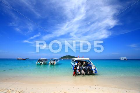 Stock photo of similan national park, paradise island located south of thailand