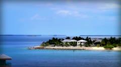 Island Homes Tilt Shift - stock footage
