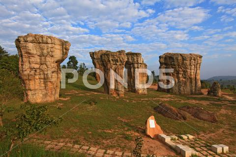 Stock photo of thailand stonehenge