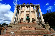 Stock Photo of roman forum rome italy