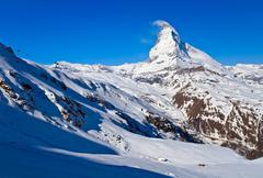 matterhorn peak alp switzerland - stock photo