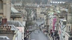 Historic high street. High-angle Stock Footage