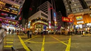 Time Lapse of people crossing road in Causeway Bay Stock Footage