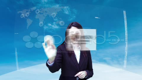 After Effects Project - Pond5 Futuristic Business Interface Woman 20643772