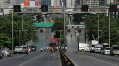BKK Noi flood 0860 Stock Footage