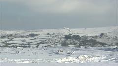 Dartmoor fields, hills and tors Stock Footage