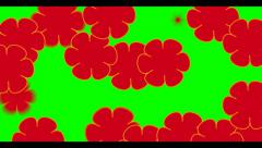 Red Flower video Transition Stock Footage