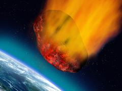 Plummeting asteroid Stock Illustration