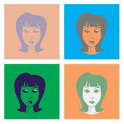Woman in pop-art style illustration Stock Illustration