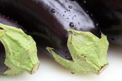 Stock Photo of Eggplant Macro