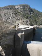 Hetch Hetchy Dam In Yosemite National Park - stock photo