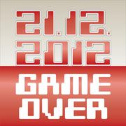 2012 date of apocalypse- game over - illustration - stock illustration