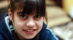 Child smile at camera Stock Footage