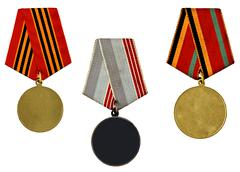 Collection of templates of medals Stock Photos