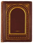 old book with gilded ornament - stock photo