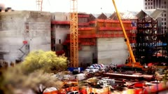 Tilt Shift Construction Area Two Stock Footage