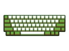 blank computer keyboard layout - realistic illustration - stock illustration